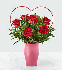 Cupid's Heart Red Rose ™ Bouquet – 6 Red Roses