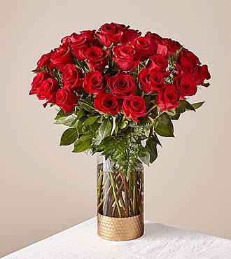 Le bouquet de roses rouges Lovebirds