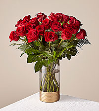 Lovebirds Red Rose Bouquet