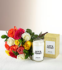 Mixed Roses & Let's Toast Homesick Candle