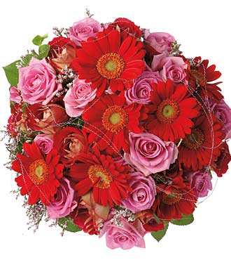 Bouquet of Roses & Gerberas