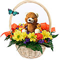 Flower Basket with Teddy