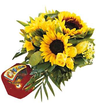 Seasonal Summer Bouquet with Celebration Candies