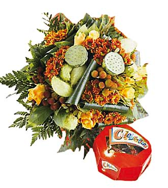 Autumn Bouquet with Celebration Candies