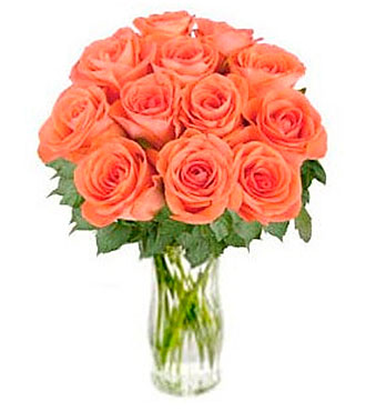 Bouquet of Orange Roses Bliss