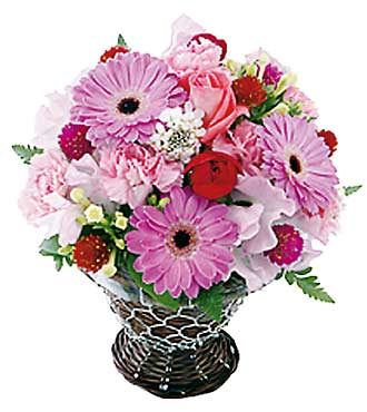 Red & Pink Seasonal Basket
