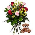 Babybirth Bouquet with Teddy Bear