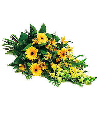 Funeral Bouquet Lovely Yellow