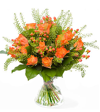 Splattering Orange exclusive vase