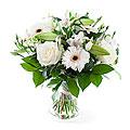 Bouquet White Mixed Bouquet; Exclusive Vase