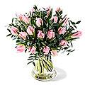 Tulip Bouquet Sweet Bright Pink, Exclusive Vase