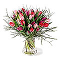 Tulip Bouquet Together, Exclusive Vase