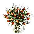 Tulip Bouquet Attention, Exclusive Vase