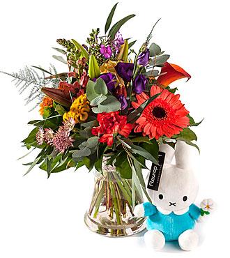 Newborn Boy and Miffi, exclusive vase