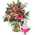 Newborn Girl and Miffi, exclusive vase