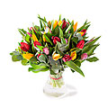 Tulip Bouquet Cheerful tulip, Exclusive Vase