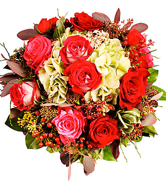 Bouquet with Roses and Berries