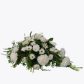 Funeral Arrangement with texted ribbon small