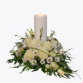 Funeral Arrangement with a candle