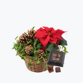 Red Christmas Basket with Chocolate