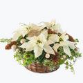 White Christmas basket