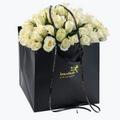 60 White Roses In A Gift Bag