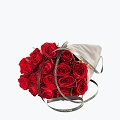15 Gift Wrapped Red Roses