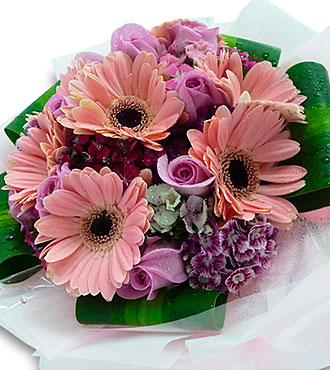 Mixed Cut Flowers Pink