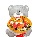 Hug Bear & Bouquet