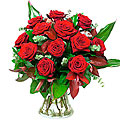 Bouquet of Roses Red Velvet (without vase)