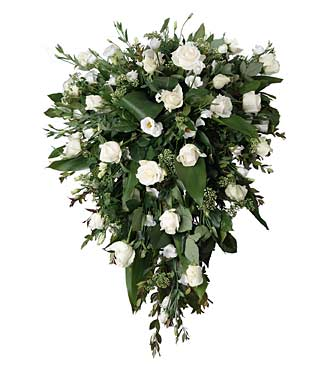 Funeral Spray with White Flowers