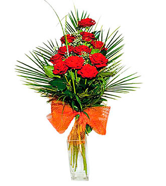 Bouquet of Red Roses (without vase)