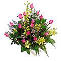 Arrangement of Cut Flowers in Pinks (in oasis)