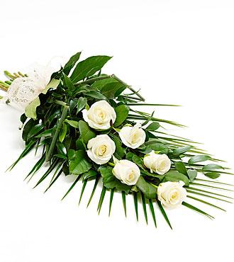 Simple Rose Sheaf - White