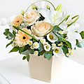 Mother's Day Cream Exquisite Arrangement