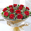 Heavenly Red Rose Hand Tied Bouquet