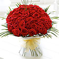 Unforgettable 50 Red Roses Hand Tied Bouquet
