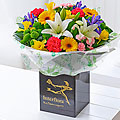 Mother's Day Spring Sunhine Hand Tied Bouquet with Chocolates