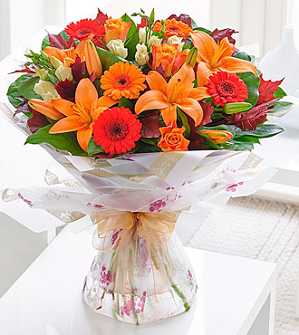 Autumn Favorites Hand Tied with Chocolates
