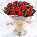 12 Luxury Long Stemmed Roses Hand Tied Bouquet