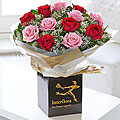 Valentine's Mixed Roses Hand Tied Bouquet