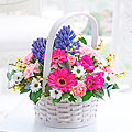 Scented Spring Basket with Chocolates
