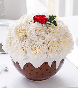 Floral Christmas Pudding