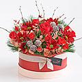 Yuletide Floral Hatbox