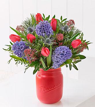 Scented Noel Tulip & Hyacinth Jar