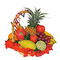 Basket of Assorted Fruit