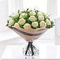 Dramatic Eighteen White Roses