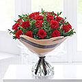 Heartfelt 20 Rose Hand–tied