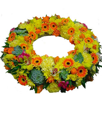 Wreath of Yellow & Orange