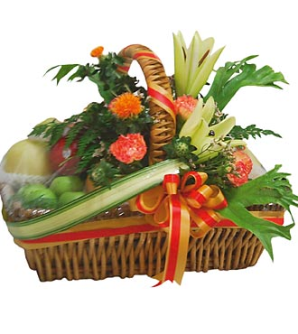Fruit & Flowers Arrangement